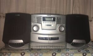 d71124d5caa SONY CFD-ZW755 Vintage Boombox CD Radio Dual Cassette Recorder Pls ...