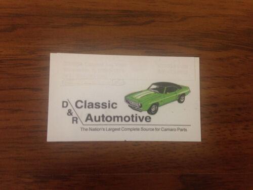 Door Latch Assembly 69 Camaro Firebird LH *In Stock* Nova 69-70 Chevy II 2