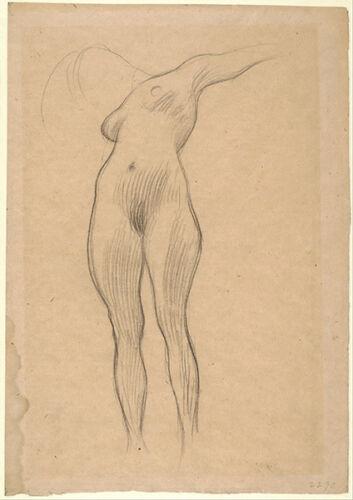 Gustav Klimt-Femme flottante avec bras tendus VINTAGE fine art print