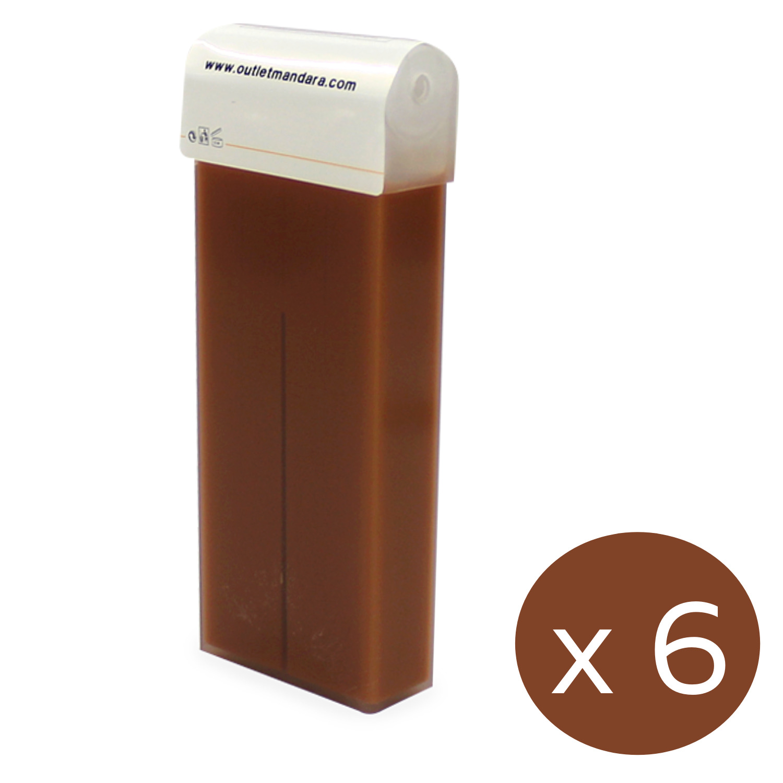 Pack Roll On Cera Depilatoria CHOCOLATE   Formato universal   6 cartuchos...