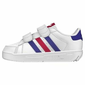 Details about Adidas Alumno CF I Childrens Velcro Casual Trainers Unisex Size UK 4 Kids