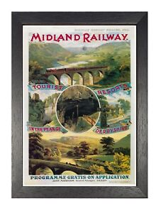 British Railways Advert Old Retro Vintage Picture Poster Bridlington 18