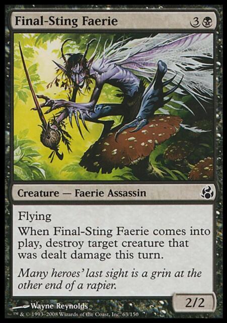 MTG Magic - (C) Morningtide - Final-Sting Faerie - SP