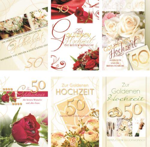 Glückwunschkarten Goldhochzeit Grußkarten Hochzeitstag Karten 721-1832
