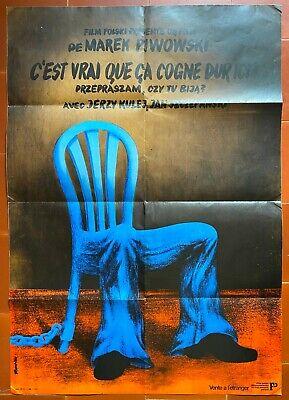 TAPIES CARTEL ORIGINAL DE LA EXPOSICIÓN 1987 Medidas 85 x 50 cm Aprox.