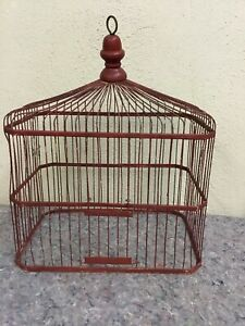 Antique-Bird-Cage-Top-Bent-Wire-Great-To-Repurpose