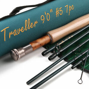 Maxcatch-Fly-Rod-Traveller-Rod-Combo-9FT-4-5-6-7-8-Weight-7-Pieces-Fast-Action