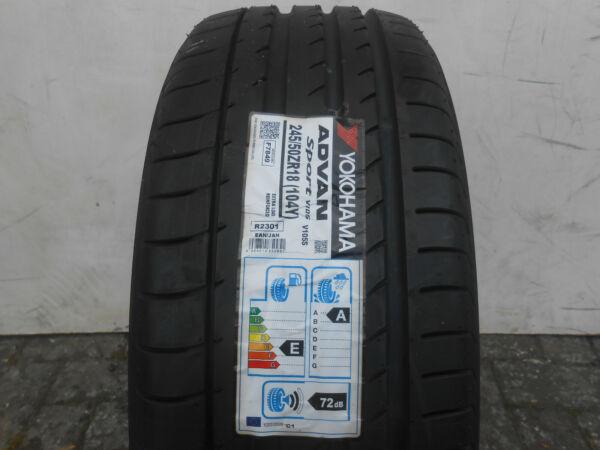 1 Sommerreifen Yokohama Advan Sport V105s 245/50r18 104y Neu! Voldoende Aanbod