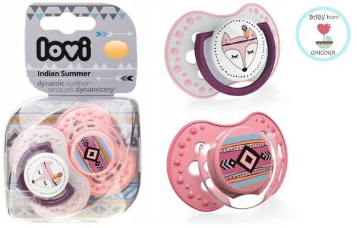 Dynamic Silicone Pacifier Lovi Dynamic bébé sucettes 3-6 M 2 Pcs Mix Designs