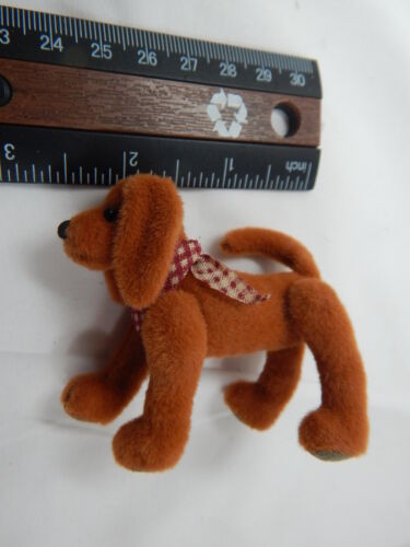 "World Of Miniature Bears 2.75/""x2.5/"" Cashmere Dog Rusty #5773R fechamento"