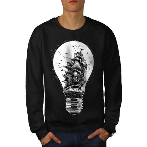 Bateau Ampoule Fashion Hommes Sweatshirt NOUVEAUwellcoda