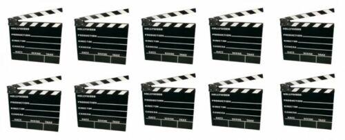 10x Filmklappe Regieklappe Regie Film Hollywood Klappe Clapperboard 20x18cm