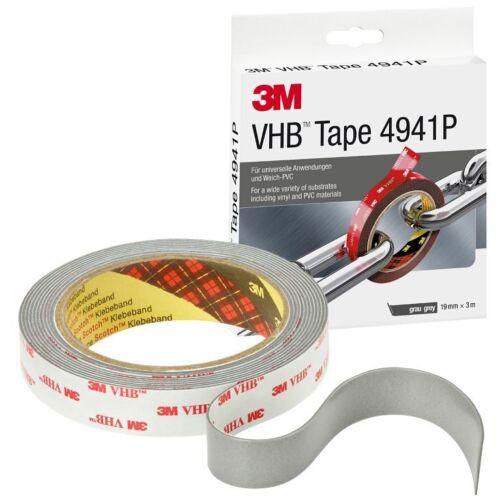 3M VHB 4941 P doppelseitiges Klebeband 19mm x 3m Universalklebeband 10 Rollen