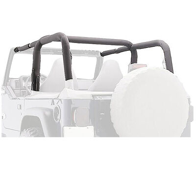 Rampage Roll Bar Pad & Cover Kit 92-95 Jeep Wrangler YJ 768915 Denim Black
