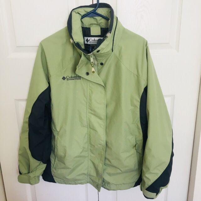 915cdf8d80 COLUMBIA Women s Ski Jacket Size M Coat 3 in 1 Green Core Interchange EUC