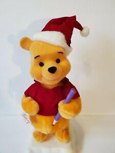 Telco-Motion-ette-Disney-WINNIE-THE-POOH-Christmas-16-034-Animated-Figure-W-Tag