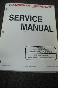 mercury mariner outboard service manual 200 225 optimax dfi 90 rh ebay com 2000 mercury optimax 225 service manual mercury 225 optimax service manual pdf