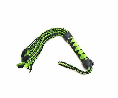 Hand Made Braided Leather Cat O/' 9 Tails Heavy Suede Leather Flogger//whip.