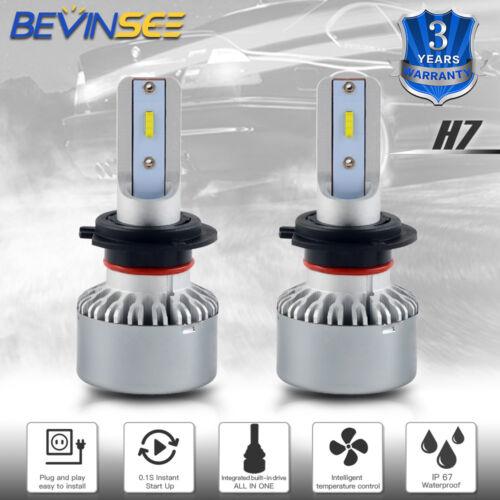BEVINSEE H7 For Honda NRX1800 Valkyrie Rune 1800 2004-2005 LED Headlight Bulbs