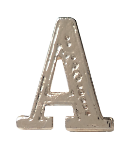 Letter A Nickel-Plated Orange Order Collarette Character