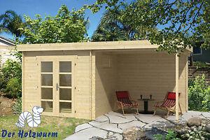 Gartenhaus Mit Unterstand gartenhaus brenda blockhaus 550x275 cm holzhaus 28mm gerätehaus