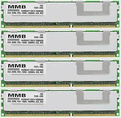 32GB (4X8GB) DDR3 PC3-10600 ECC REG 240-PIN 1333MHZ