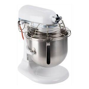 KitchenAid KSMC895WH Commercial Stand Mixer 8-Quart Stainless Steel White New