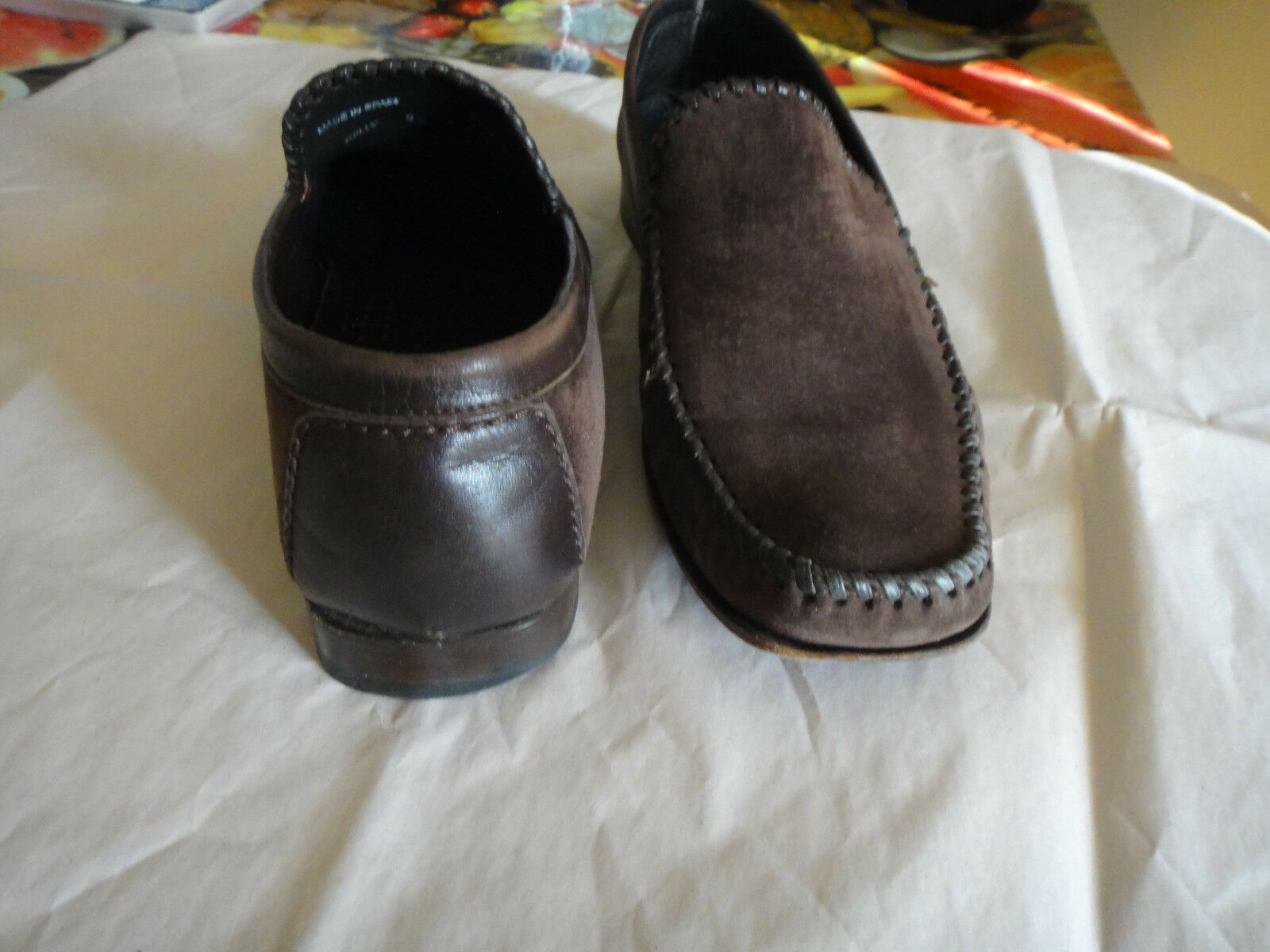 MEZLAN  KELLY BROWN SUEDE MOCCASIN MOCCASIN MOCCASIN SIZE 9.5M bba4de