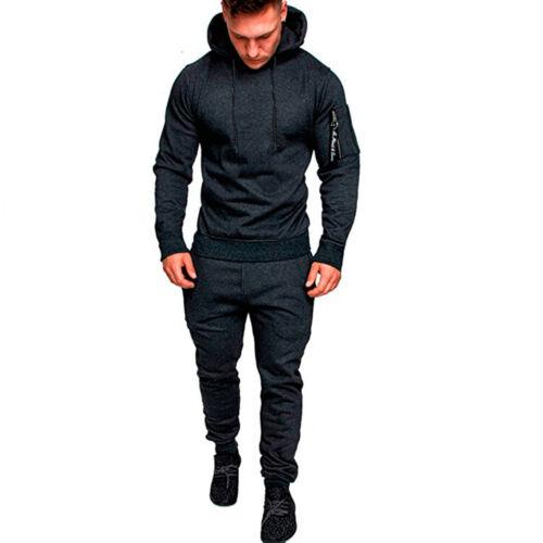 USA Mens Tracksuit Top Bottom Sport Jogging Sweat Suit Trousers Pant Hoodie Coat