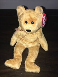 TY Beanie Baby - CASHEW the Bear - RETIRED Rare Silver Star on Swing Tag