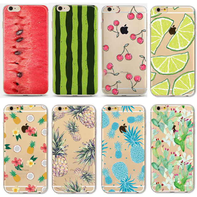 Transparent Fruit Pineapple Soft Back Case Cover For iPhone 5 5S 5C 6 6S Plus