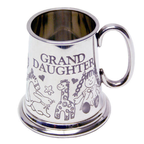 Pewter Mug With Granddaughter Engraving C3059GDGB Granddaughter Gift