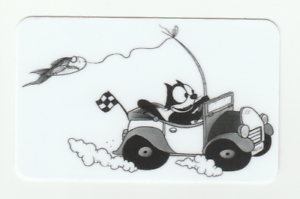 FELIX The Cat STICKERS Racecar Fishing print Classic ART comic cartoon CUTE pole