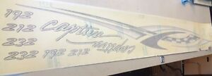 "RINKER CAPTIVA 192 / 212 / 232 SPECIAL EDITION PORT DECAL 79 1/2"" X 8 1/4"" BOAT"