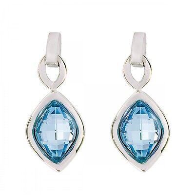 DSE 5087607 Lemon Stone Earrings Swarovski aquamarine / rhodium-plated Authentic