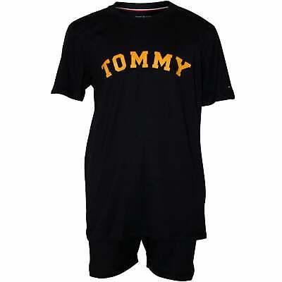 b3d601f3 Tommy Hilfiger Logo T-Shirt & Shorts Boys Pyjamas Gift Set, Navy | eBay