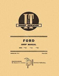 ford tractor 2n 8n 9n shop manual i t shop service coil binding ebay rh ebay com ford 8n shop manual ford 9n tractor service manual