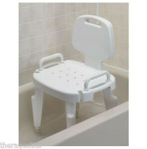 Adjustable Shower Seat With Removeable Arms Back Bath