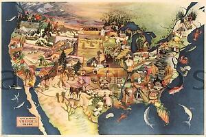 Usa Paul Sample S America It S Soil Map Vintage 1946 Reprint Art
