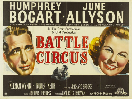 #21 Battle Circus Humphrey Bogart vintage movie poster