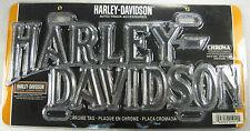 HARLEY DAVIDSON MOTORCYCLES METAL LICENSE PLATE DIE CAST CHROME NEW L844
