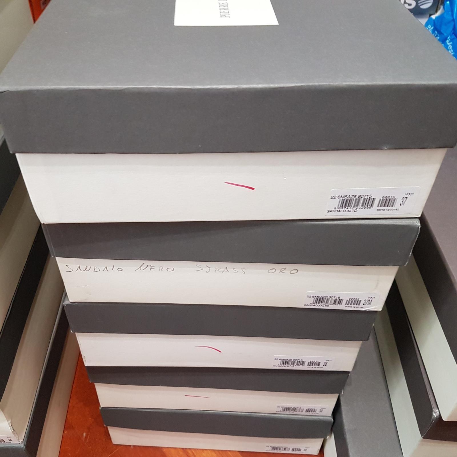 Sandalo  a PIERRE BALMAIN n 37 tacco 13 3 plateau 3 13 RRP€ 560 nero zeppa -75% 781ab0