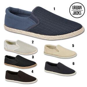 Mens-Slip-On-Canvas-Boys-Espadrilles-Pumps-Plimsolls-Trainers-Shoes-Sizes-7-12