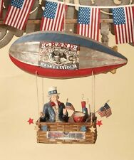 "Bethany Lowe Uncle Sam in Dirigible Zeppelin Blimp Balloon Americana 19"""