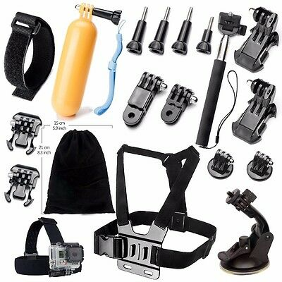 Head Chest Mount Selfie Stick Accessories kit for Gopro Hero 4/5 Action Camera