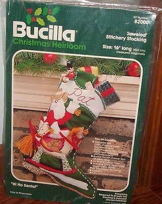 Bucilla Hi Ho Santa Felt Stocking Kit # 8200 Cowboy Santa Cowboy Boot - New
