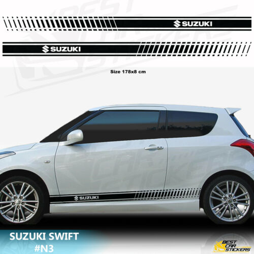 Fits Suzuki Swift Car Side Racing Stripes Vinyl Car Stickers Decals