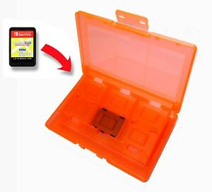 12-x-Nintendo-Switch-Orange-Game-Card-Case-Holder-UK-Seller