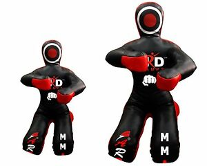 Brazilian Grappling Dummy MMA Wrestling Judo Art Leather Black//Red