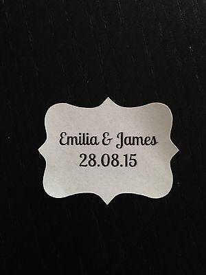 28 X Vintage Bianco Matrimonio Carta Adesivo Etichette Personalizzate Aragosta-mostra Il Titolo Originale Buoni Compagni Per Bambini E Adulti
